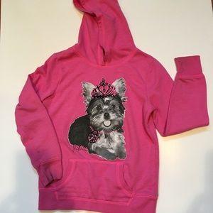 Justice Pink Pullover Hoodie Sweatshirt sz 8